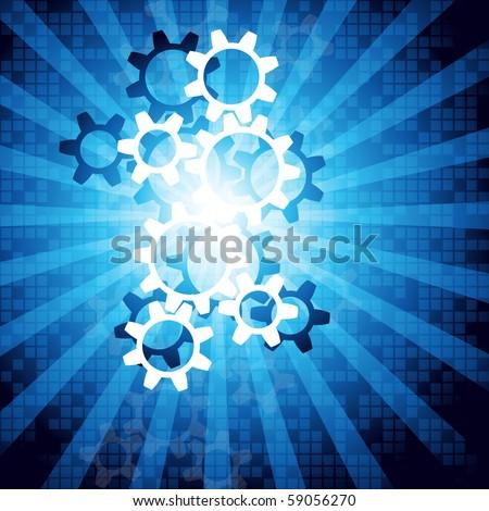 Industrial background. Vector. - stock vector