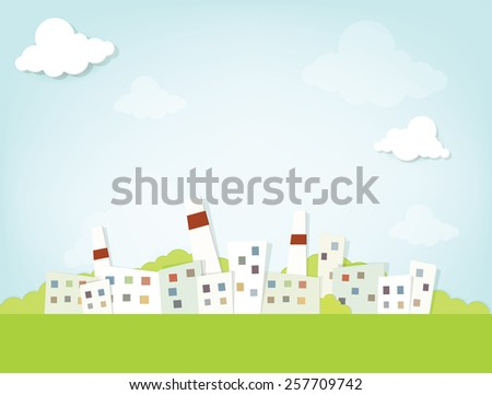 Industrial city - stock vector