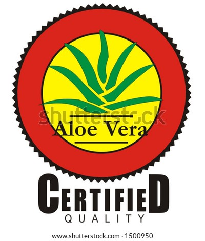 industrial design, effective corporate banner for health and food industry  - aloe vera certified quality, healthcare and medical ingredient
