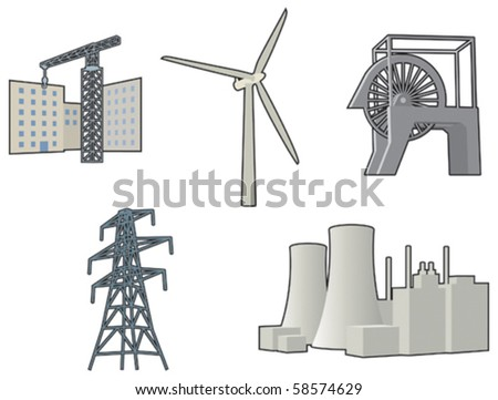 Industrial icons - stock vector