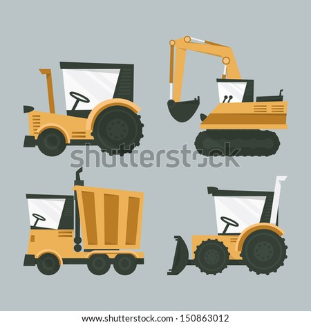industrial machines, vector - stock vector