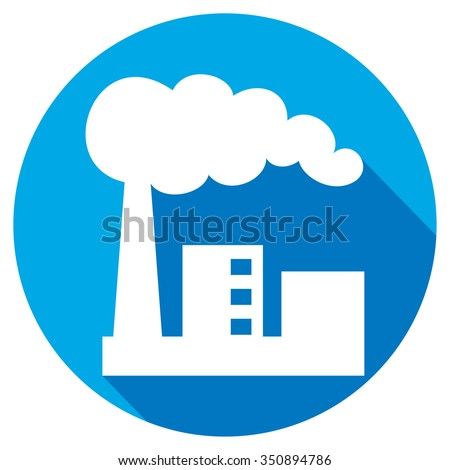 industrial plant flat icon (industrial buildings factory, industrial factory symbol) - stock vector