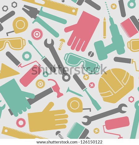 Industrial seamless pattern Vector Illustration, contains transparencies. - stock vector