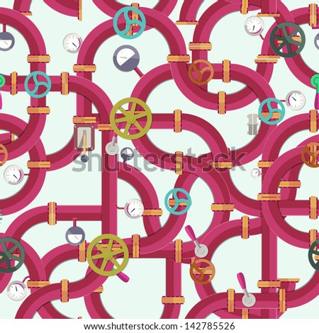 Industrial seamless pattern. Vector Illustration, eps10, contains transparencies. - stock vector