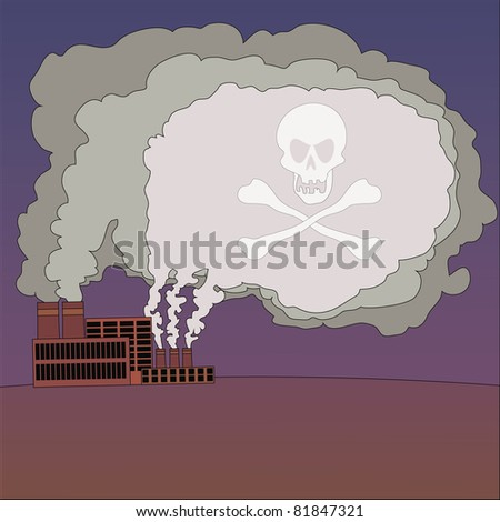 industrial smog - stock vector