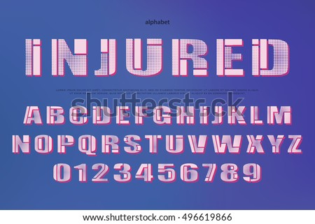 3d Illusion Alphabet Letters Numbers 3d Stock Vector 459872608 ...