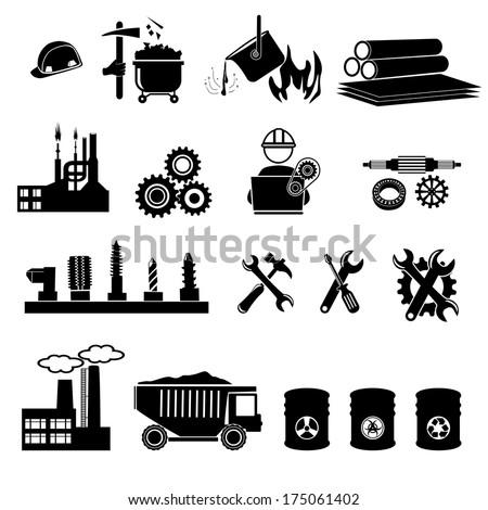 industry 9 - stock vector