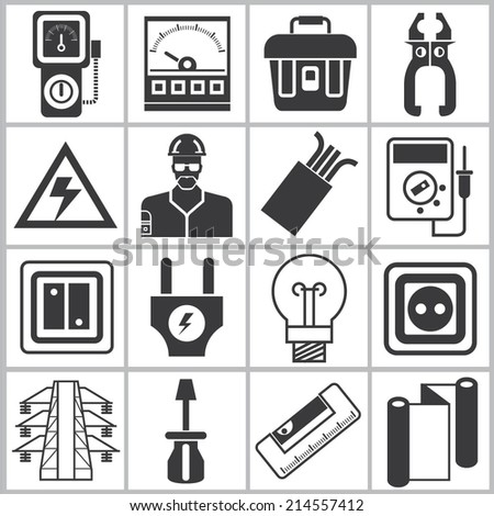 industry and engineering icons set - stock vector