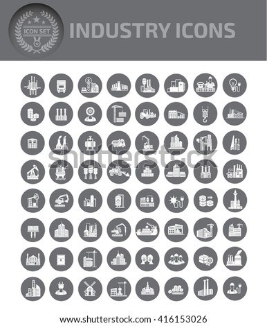 Industry,construction,energy icons,vector - stock vector
