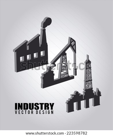 Industry design over gray background, vector illustration