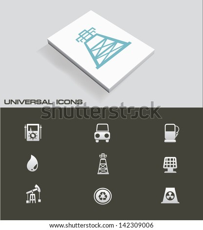 Industry ,Energy and power universal icons,vector - stock vector