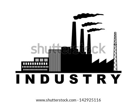INDUSTRY ICON - stock vector