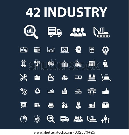industry icons, signs set, concept vector for web, infographics - stock vector