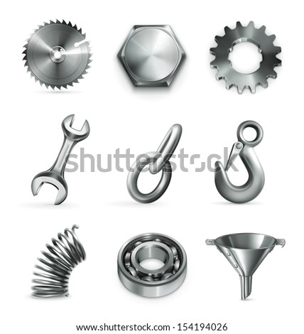 Industry, set of vector icons - stock vector