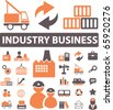 industry signs. vector - stock photo
