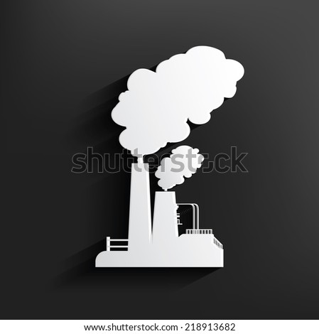 Industry symbol on background,clean vector - stock vector