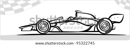 Indycar symbol . Silhouette. - stock vector