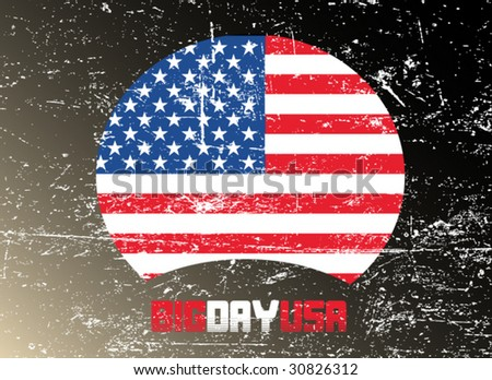 inependence icon - us flag - stock vector