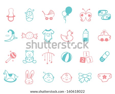 infant Icon set   - stock vector