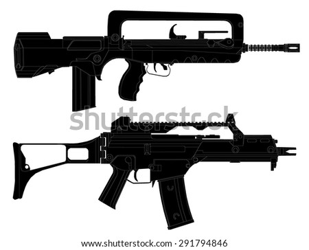 infantry weapon.vector illustration - stock vector