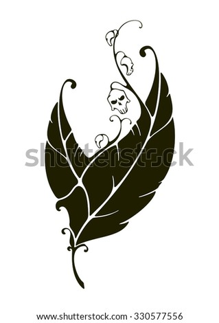 Infernal flower - stock vector