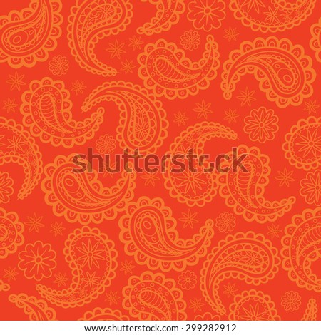 Infinite ornament oriental style. Vector background illustration. - stock vector