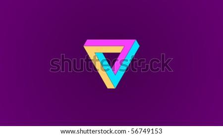 infinite ring screensaver - stock vector