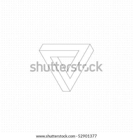 infinite triangular ring - stock vector