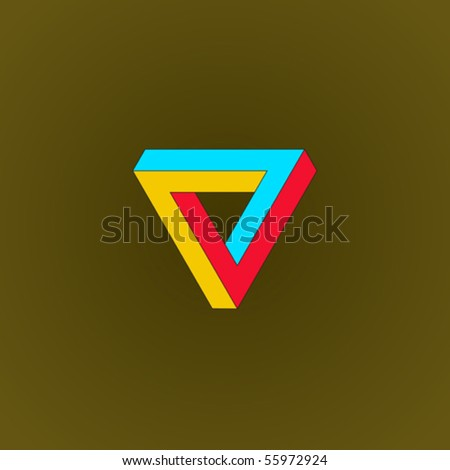 infinite triangular ring - stock vector