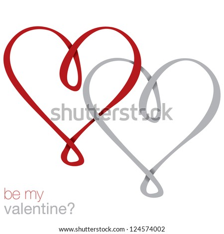 Infinity heart card in vector format.