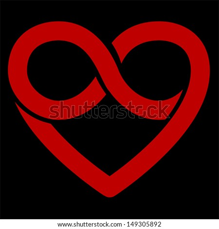Infinity Heart Symbol Love Forever Icon Stock Vector ...