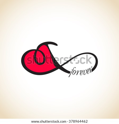 Infinity love, forever love - stock vector