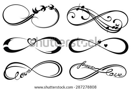 Infinity Love Forever Symbol Stock Vector 287278808 Shutterstock