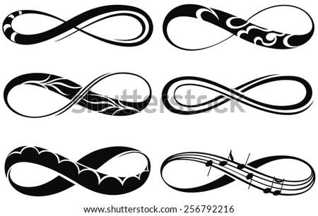 Infinity love, forever symbols - stock vector