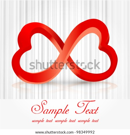 Infinity Love Symbol - stock vector