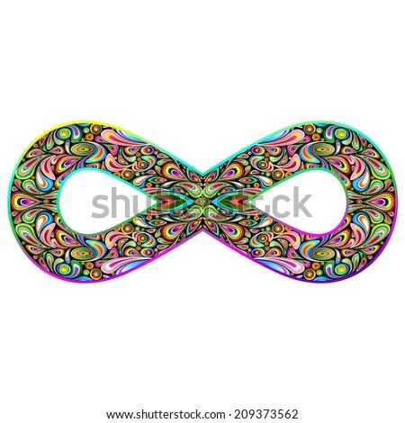 Infinity Psychedelic Symbol - stock vector