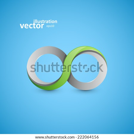 Infinity sign, vector graphic design, stylish concept eps10 - stock vector