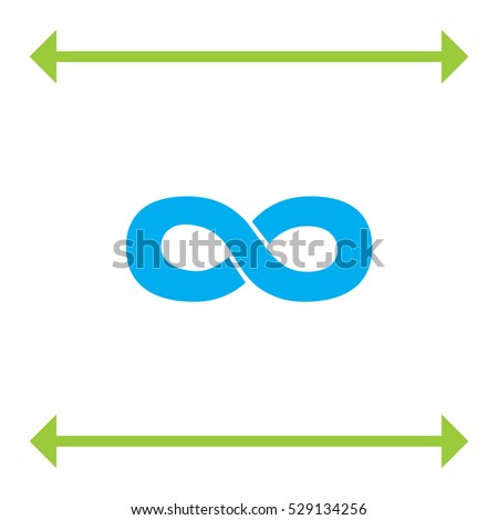 Infinity sign vector icon. Endless sign icon.