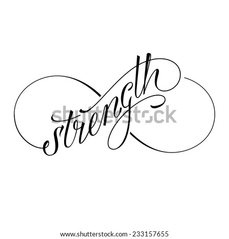 Infinity Strength Icon Valentines Day Vector Stock Vector Royalty