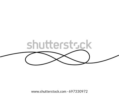 Infinity symbol. Continuous line drawing icon. Vector illustration