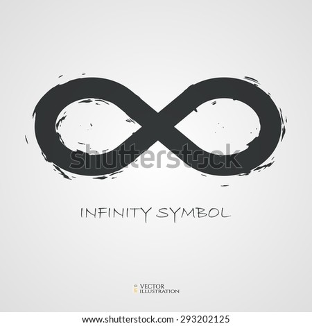 Infinity Symbol Created Grunge Style Vector Stock Vector 293202125
