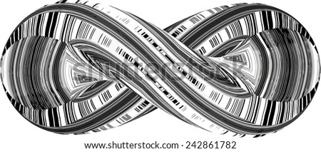 Infinity Symbol In Geometric Twisted Shape Vector 37 - stock vector