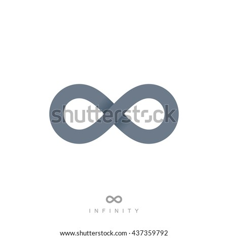 infinity symbol or icon. premium infinity logo concept in modern flat style. isolated on white background. vector illustration - stock vector