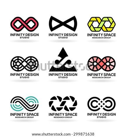 Infinity Symbols 5 Stock Vector 299871638 Shutterstock