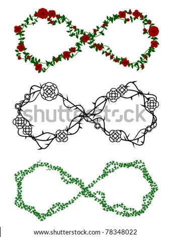 Infinity Symbols Made Out Rose Ivy Stock Vector 78348022 Shutterstock