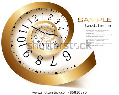 Infinity time. Vector illustration - stock vector