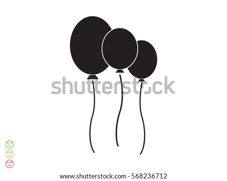inflatable balloon, icon, vector illustration eps10