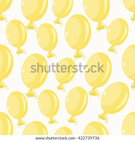 inflatable balloons yellow on a white background seamless pattern vector illustration - stock vector