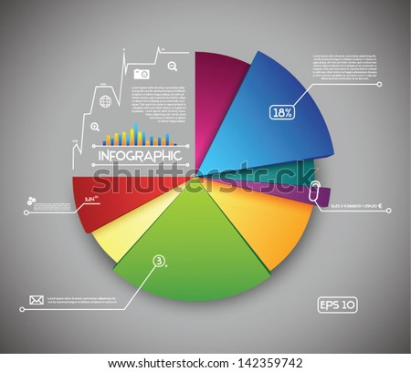 Info Graphic Colorful Diagram - stock vector