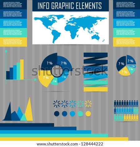 info graphic elements - stock vector